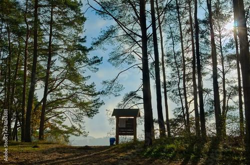 Fotografía  Hinweisschild im Nationalpark Waren Müritz,Seenplatte