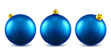 Realistic New Year Toys With Glitter For 2019 Holiday. Christmas 3d Balls With Sparkle Or Shimmering Baubles, Spheres With Shadow For Festive Celebration Or Winter Greeting.
