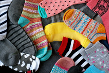 A Pile Of Multi-colored Socks....