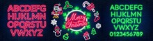 Neon Signs Of Merry Christmas,...