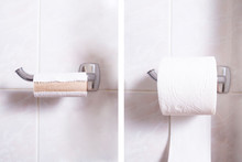 Changing Toilet Paper, Two View