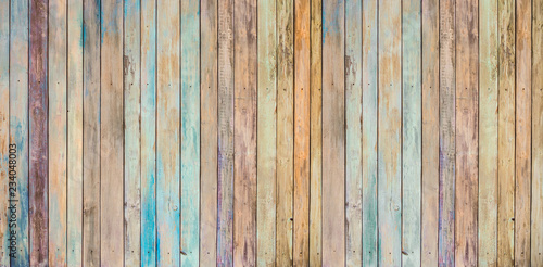 many-coloured background of old wood plank