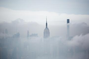New York grattacieli nella nebbia
