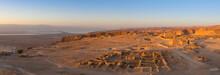 Sunrise At The Northern Palace In Masada, Israel