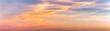 Panorama eines Sonneunterganges in Pastellfarben