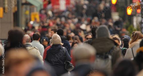 Fototapeta Crowd of people walking street obraz