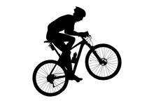 Man Cyclist Mountain Biker Rid...