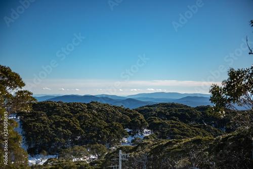 Foto op Plexiglas Blauw Mountain