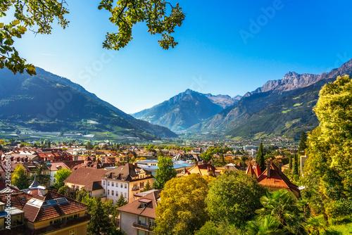 Fotografie, Obraz  Merano or Meran view from Tappeiner promenade