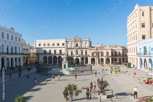 The historic Old Square or Plaza Vieja in the colonial neighborhood of Old Havan Fototapet