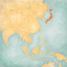 Map Of East Asia - Japan