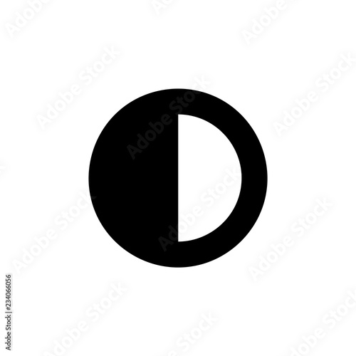 Fotografie, Obraz  Contrast icon vector isolated on background