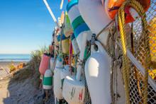 Colorful Buoys Close Up