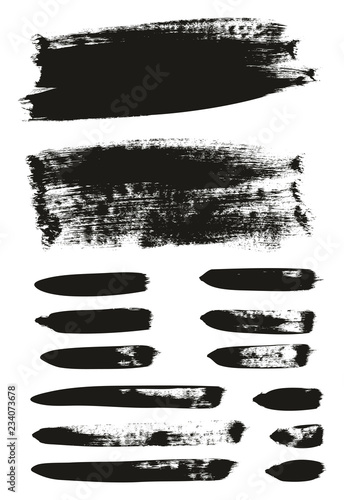 Fotografía  Calligraphy Paint Brush Background & Lines Mix High Detail Abstract Vector Backg