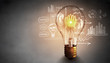 Leinwanddruck Bild - Bright idea for success