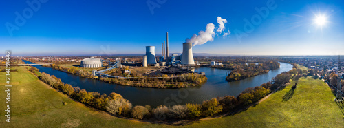 Photo Aerial photograph Germany, Hesse, Großkrotzenburg, Großauheim, The Staudinger po