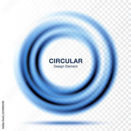 Vortex gradient round banner  Text presentation layout