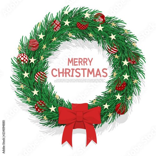 Isolated Christmas Wreath On Transparent Background Buy This Stock