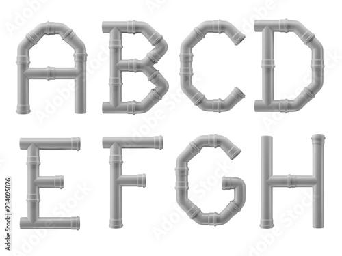 Fotografía PVC pipe alphabet