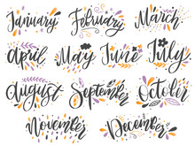 Handwritten Names Of Months: D...