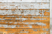 Old Wooden Planks With Cracked Paint, Wearing Pattern
