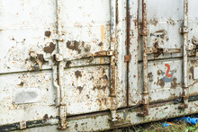 Old Damaged Rusty Shipping Con...