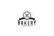 Crossed Rolling Pin Bakery Logo Designs Inspiration Isolated On White Background