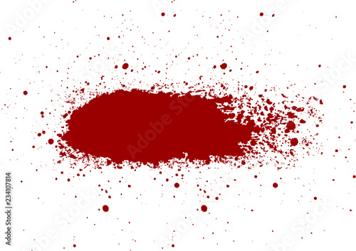 abstract vector  Blood splatter painted  isolated background Fototapet