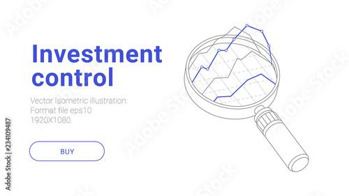 Fotografía  Isometric investment illustraion