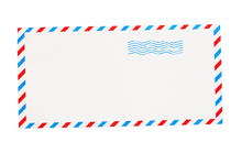 Empty Envelope With Red And Bl...