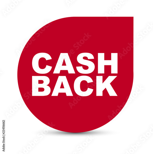 Fototapeta red vector banner cash back obraz