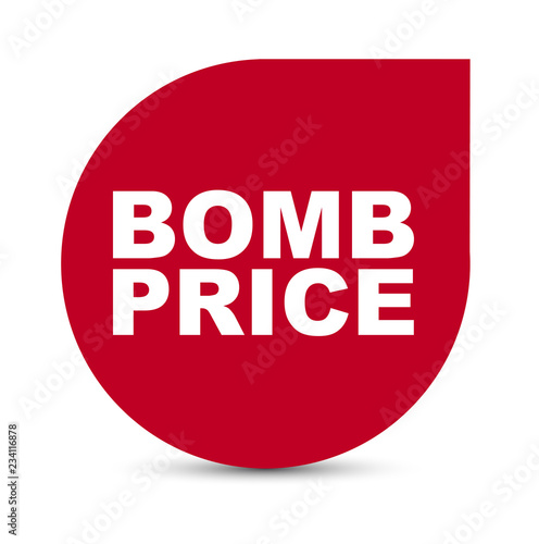 Photo  red vector banner bomb price