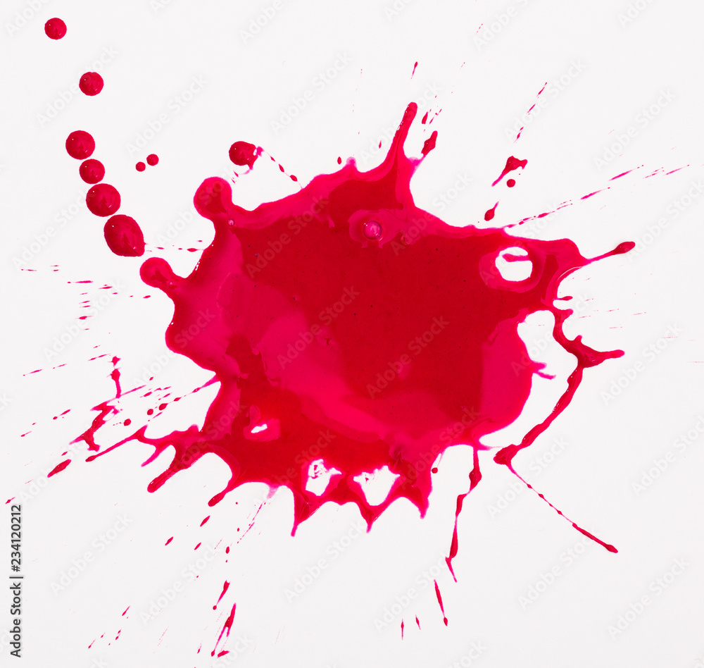 Fototapety, obrazy: Red blot isolated on white