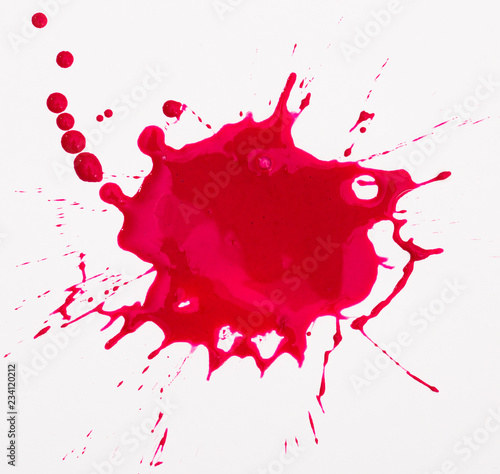 Photo Red blot isolated on white