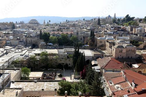 Fotobehang Midden Oosten Иерусалим - столица государства Израиль , город на Ближнем Востоке.