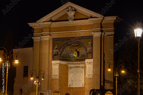 Fotografie, Obraz Rome, the 28 steps of the Holy Stairs the same as the ascent of Jesus in the palace of Pontius Pilate in Jerusalem