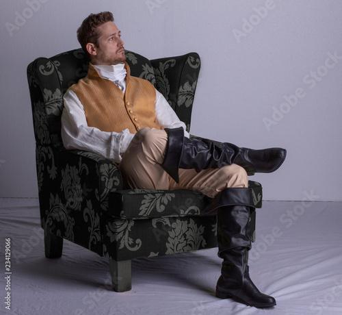 Vászonkép Regency man alone