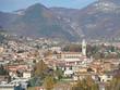 Albino, Bergamo, Italy. Aerial landscape view of the town