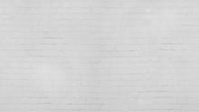 White Old Brick Wall  Wash  Background.   Wide Panorama Of Masonry