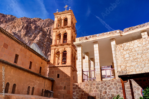 Saint Catherine's Monastery in Sinai moumtains, Egypt Wallpaper Mural