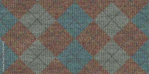 Photo  Checkered Knitted Weaving Background