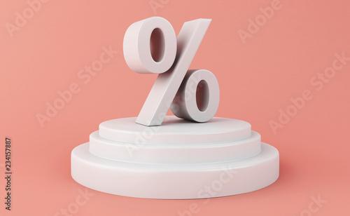 Fényképezés  3d Discount Symbol