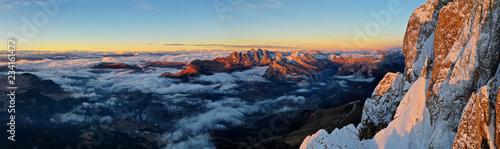Fototapeta Beautiful autumn landscape in the Dolomites mountains. obraz
