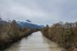 Hochwasser in einem Fluss
