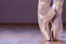 Feet Dressing A Pair Of Pointe...