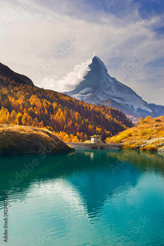 mountain lake Stellisee Canvas Print