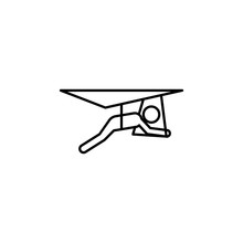 Hang Gliding Sign Icon. Element Of Navigation Sign Icon. Thin Line Icon For Website Design And Development, App Development. Premium Icon