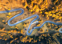 Aerial View Of The Winding Roa...