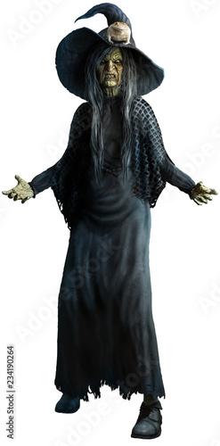 Valokuva Witch 3D illustration
