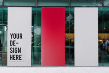 Three Large Banner Mockups In ...